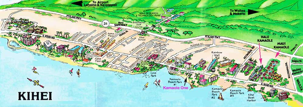 picture relating to Printable Map of Maui identify Nearby Information and facts, Maui and Kihei Maps: Mauis Kamaole One particular Condominium 2